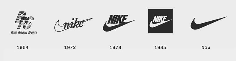 Эволюция логотипа Nike