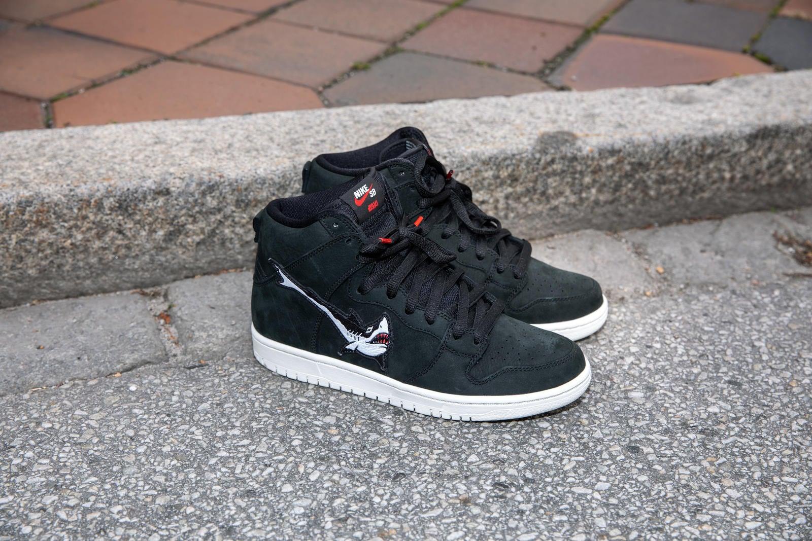 Кроссовки Nike Dunk с акулой