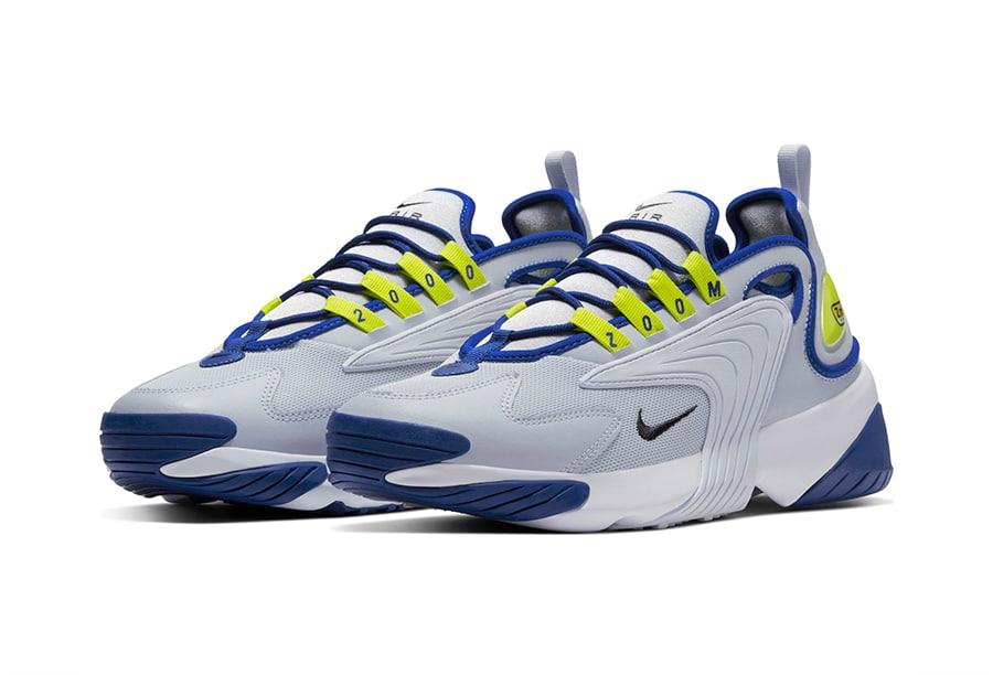Nike Zoom 2K Sky Grey/Black-Bright Cactus-Hyper Blue