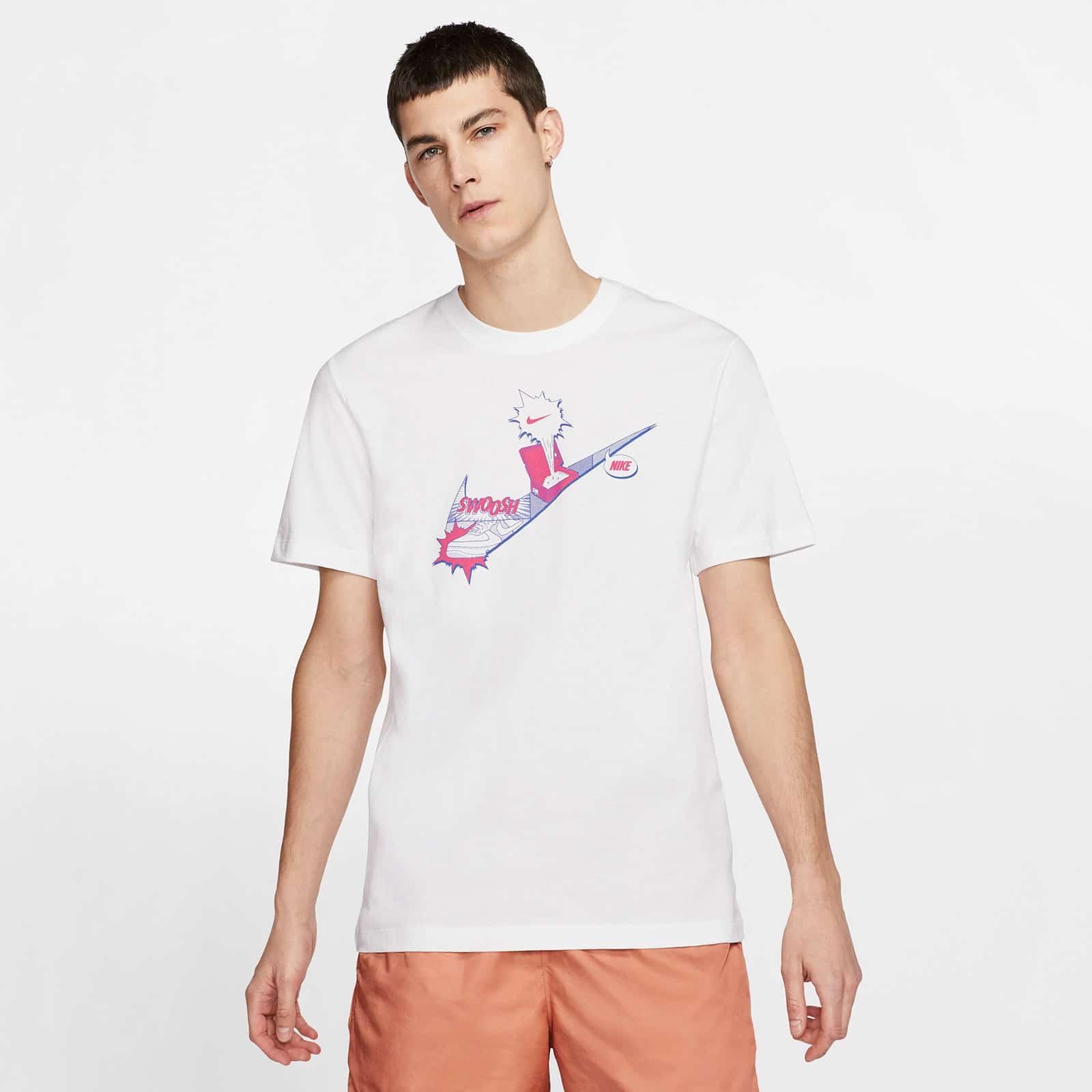 Белая мужская футболка Nike NSW
