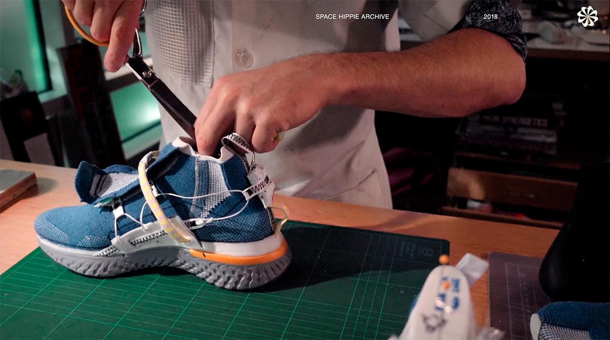 Процесс создания Nike Space Hippie