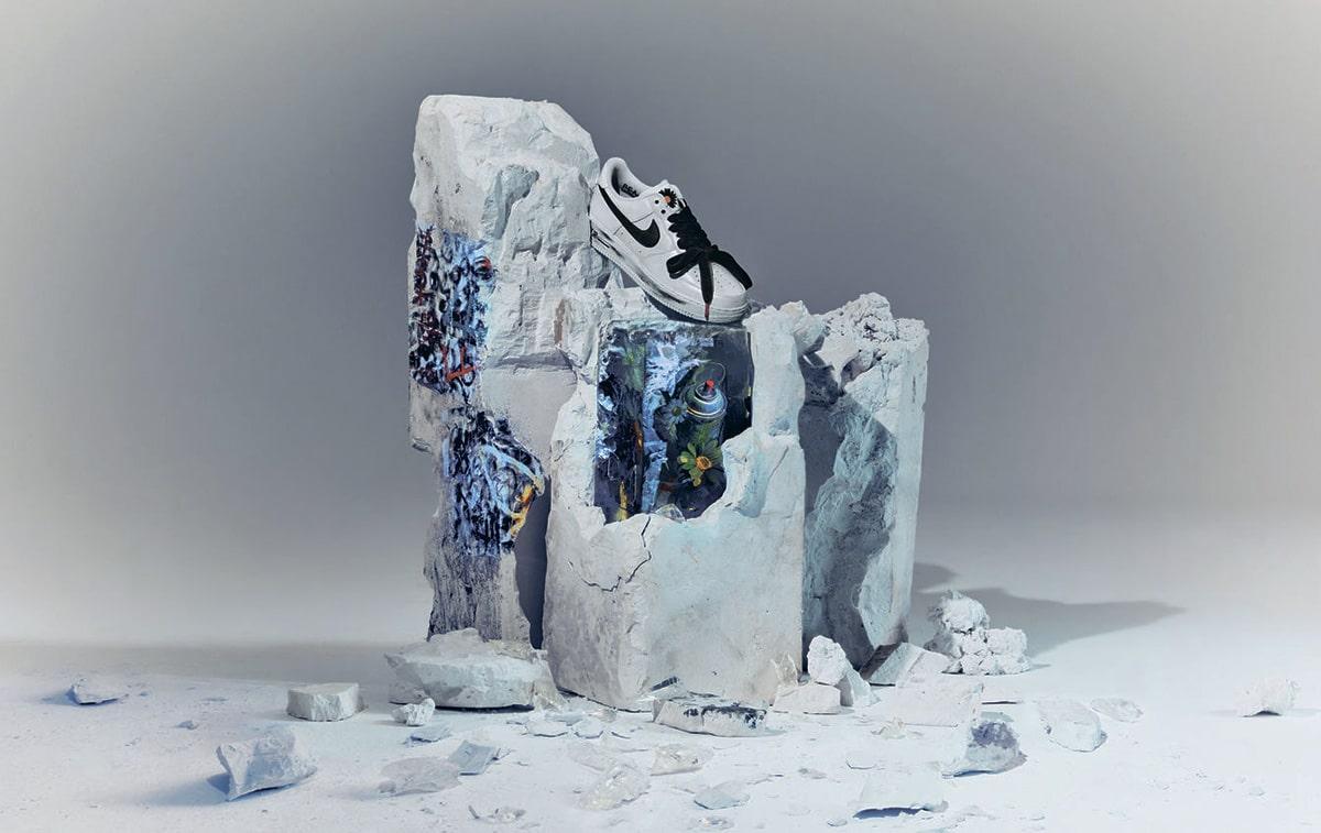 Белые Nike Air Force 1 «Para-noise»