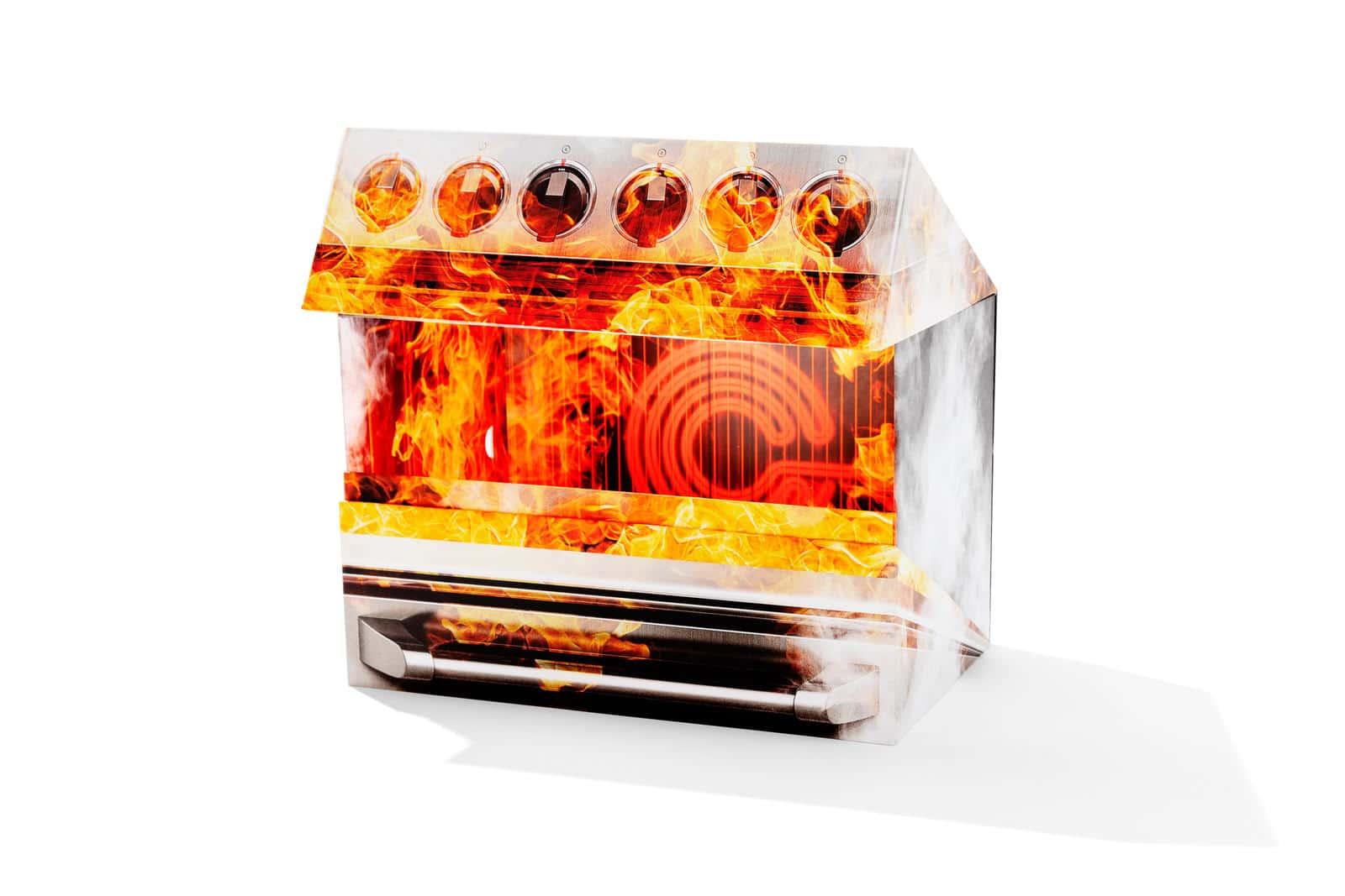 Коробка в форме духовки