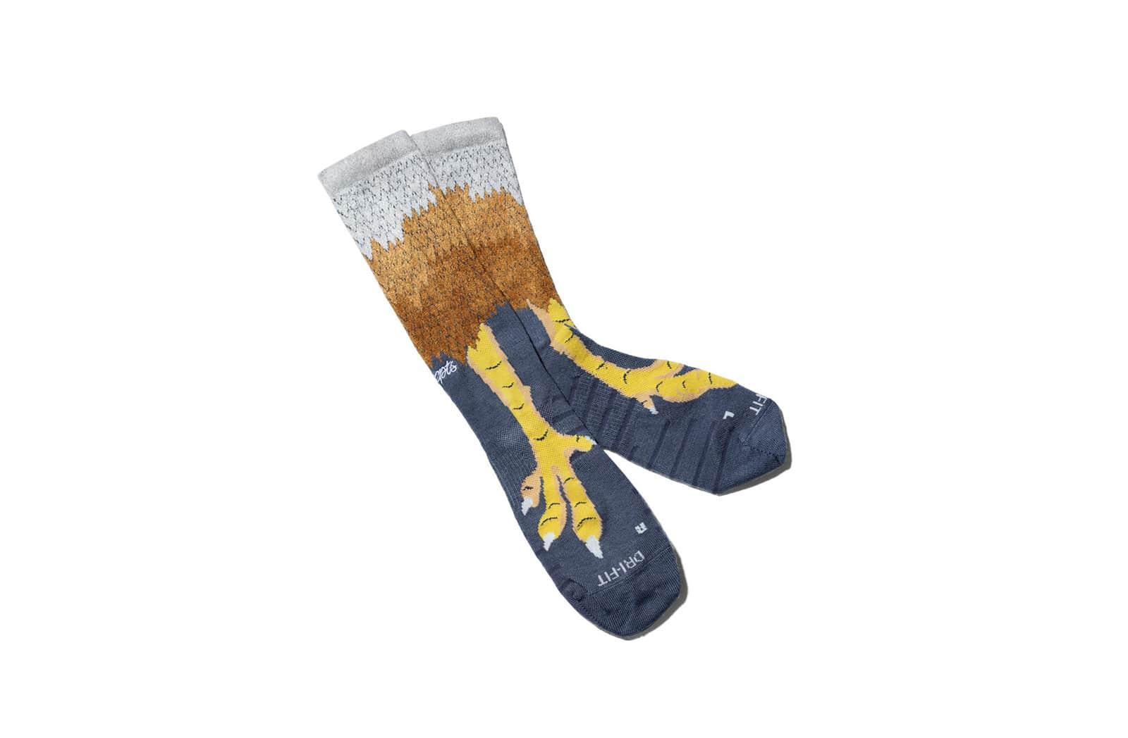Носки с куриными лапами