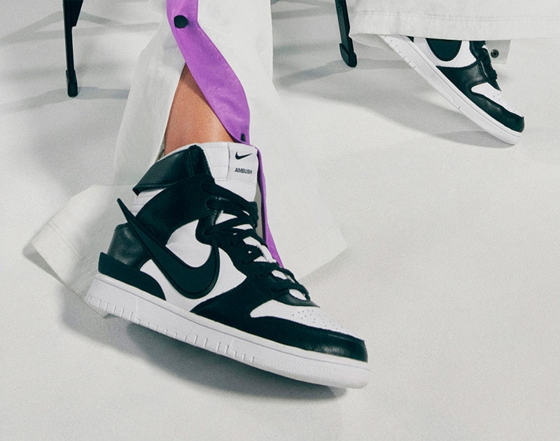 AMBUSH® x Nike Dunk High «Black/White»