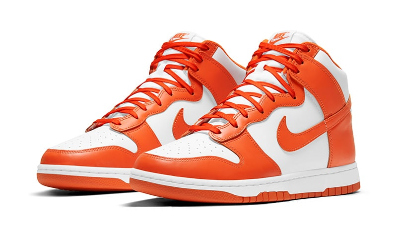 Nike Dunk High white/orange blaze