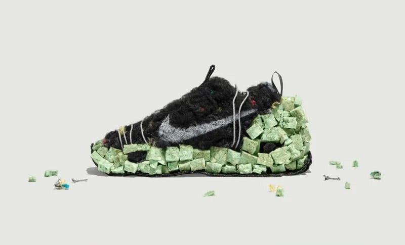 Переработанные материалы в конструкции обуви