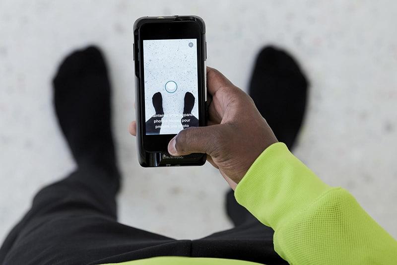 Определение размера с помощью сканирования в приложении Nike