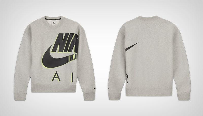 Серый свитшот Nike x Kim Jones