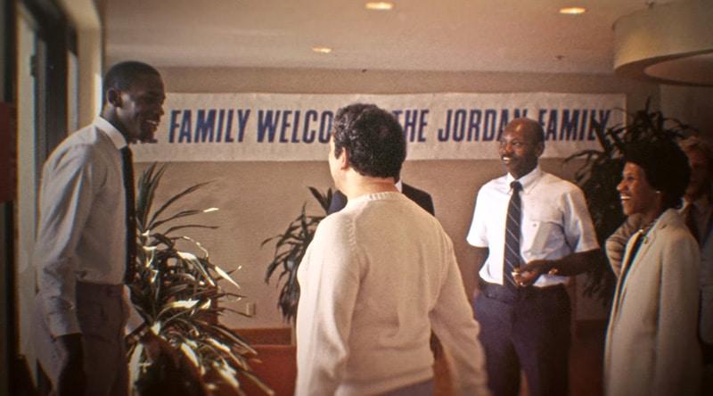 Джордан с родителями на переговорах c NIke