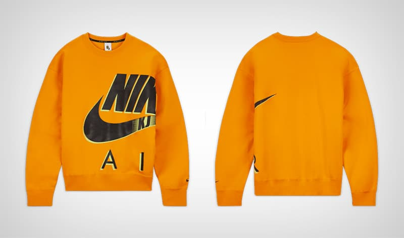 Оранжевый свитшот Nike x Kim Jones