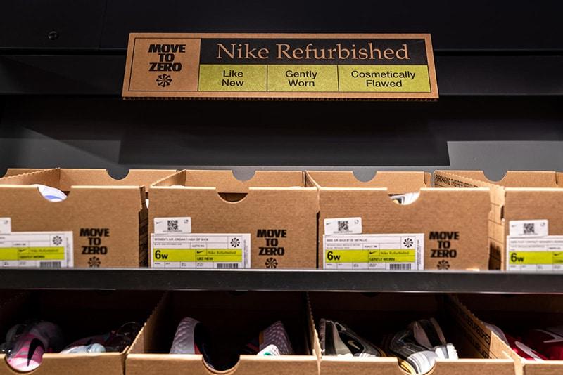Полки с восстановленной обувью