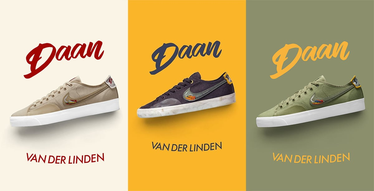 Три расцветки Nike SB BLZR Court DVDL