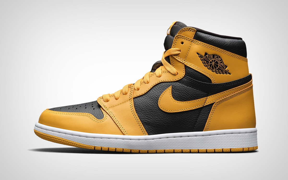 Жёлто-черные Air Jordan 1 Hi OG