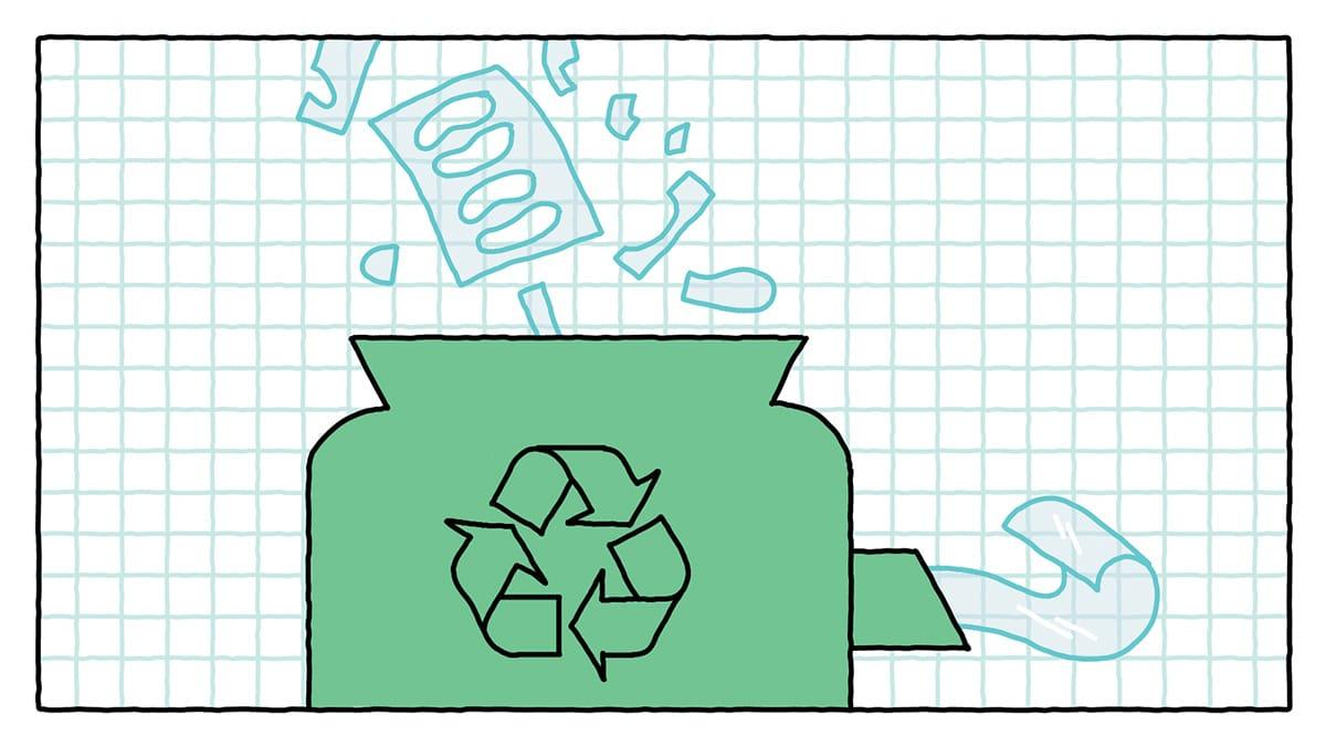 Переработка остатков материалов
