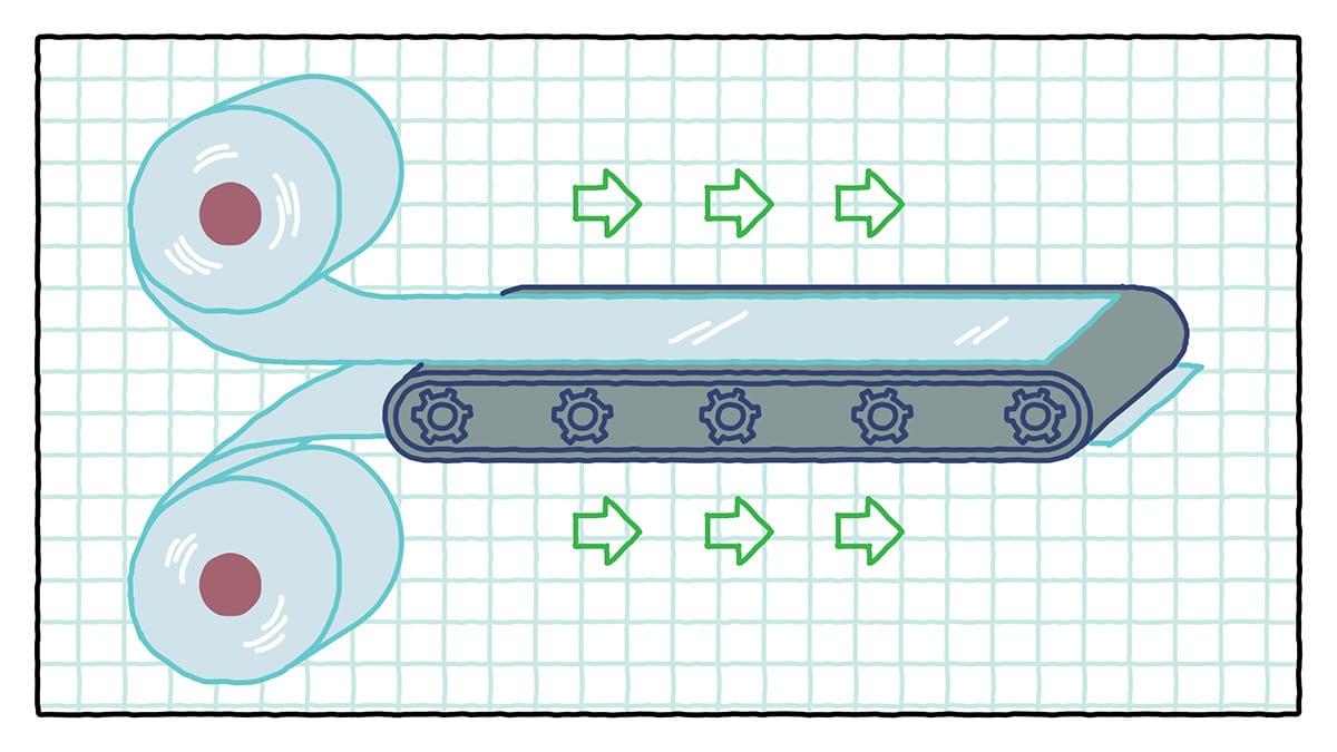 Процесс термоформирования плёнки ТПУ
