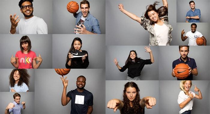 Эмоции людей в Nike