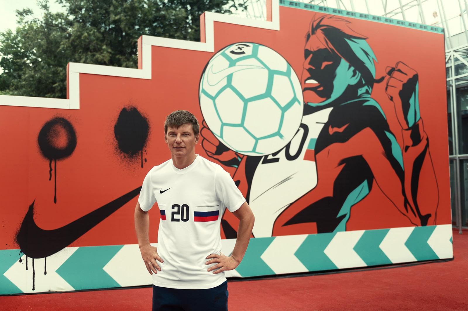 Андрей Аршавин в Nike Box MSK