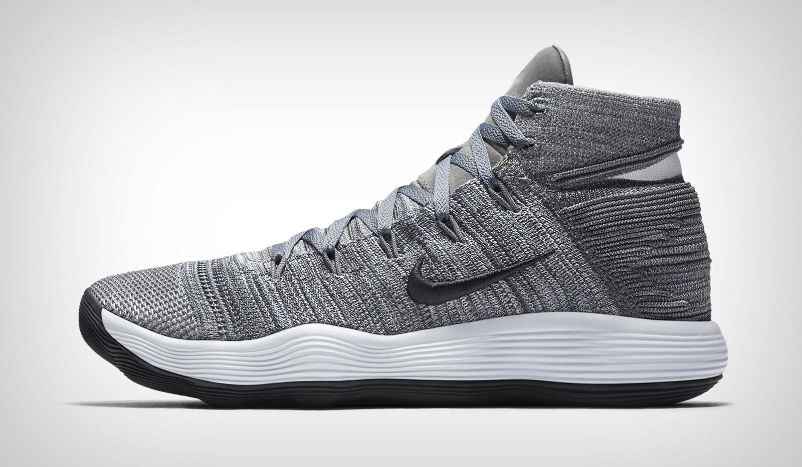 Серые Nike React Hyperdunk 2017